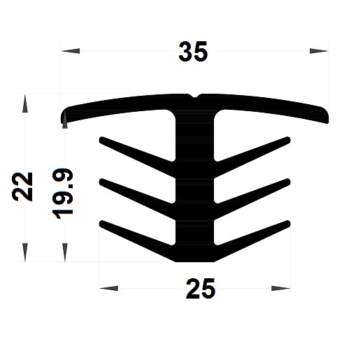 Expansion gasket - 22x35 mm