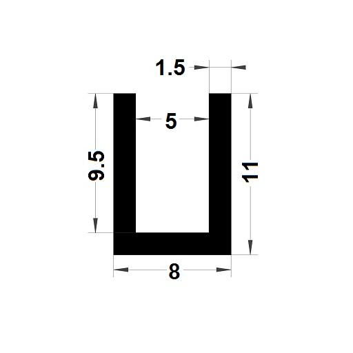 U Profile - 11x8 mm