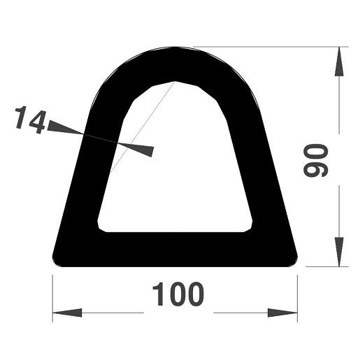 Défense de quai - 90x100 mm