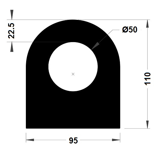 Défense de quai - 110x95 mm
