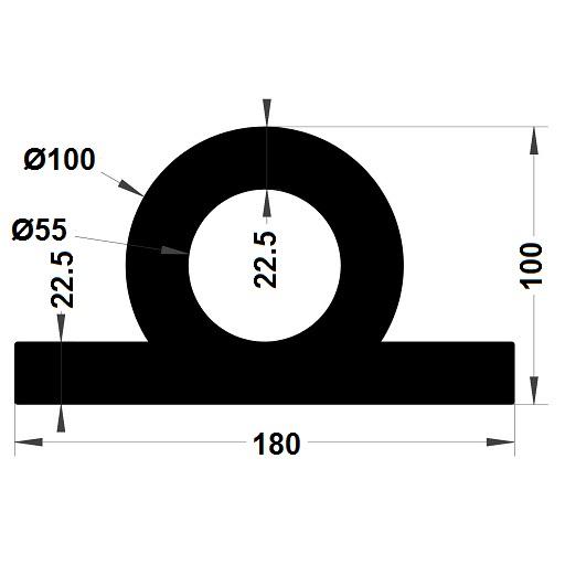Défense de quai - 100x180 mm