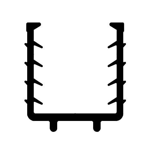Joint profile de garde-corps - F3718